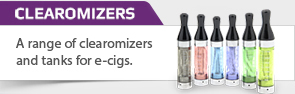 Buy e-cig cartomizers, clearomizers and tanks
