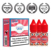 dinner lady Strawberry Custard 10ml multipack (30ml) e-liquid UK