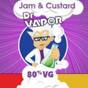 jam & custard high vg e-liquid UK